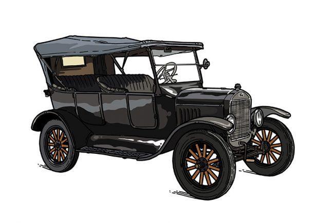 Ilustracija avtomobila Ford T