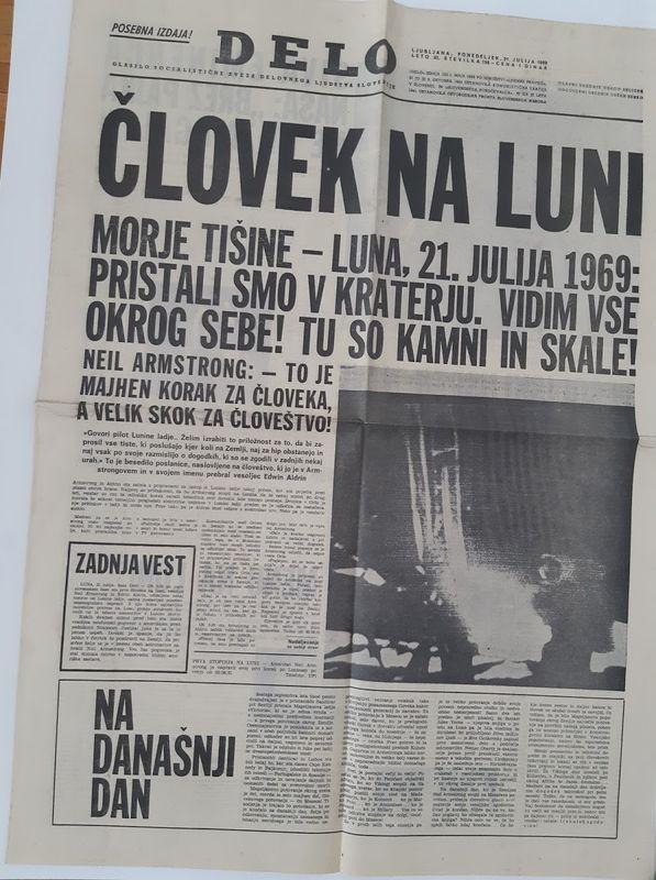 Časopis Delo - posebna izdaja ob pristanku na Luni
