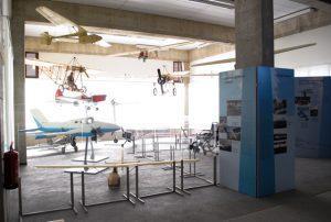 Postavitev razstave Modeli letal slovenskih konstruktorjev
