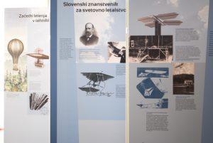 Pano razstave Modeli letal slovenskih konstruktorjev