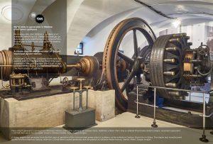 Parni stroj in generator Mestne elektrarne Ljubljana