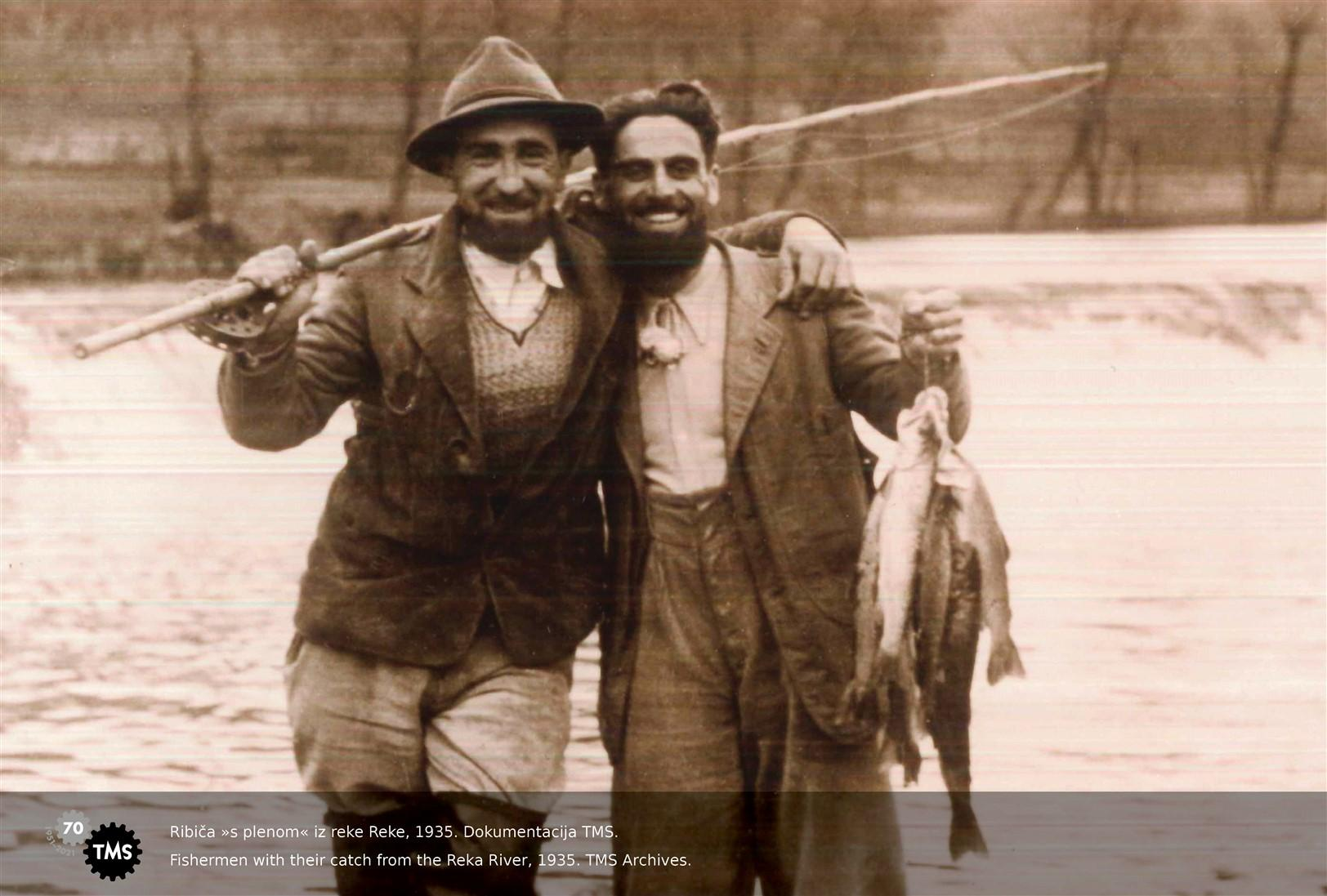 Ribiča s plenom iz Reke