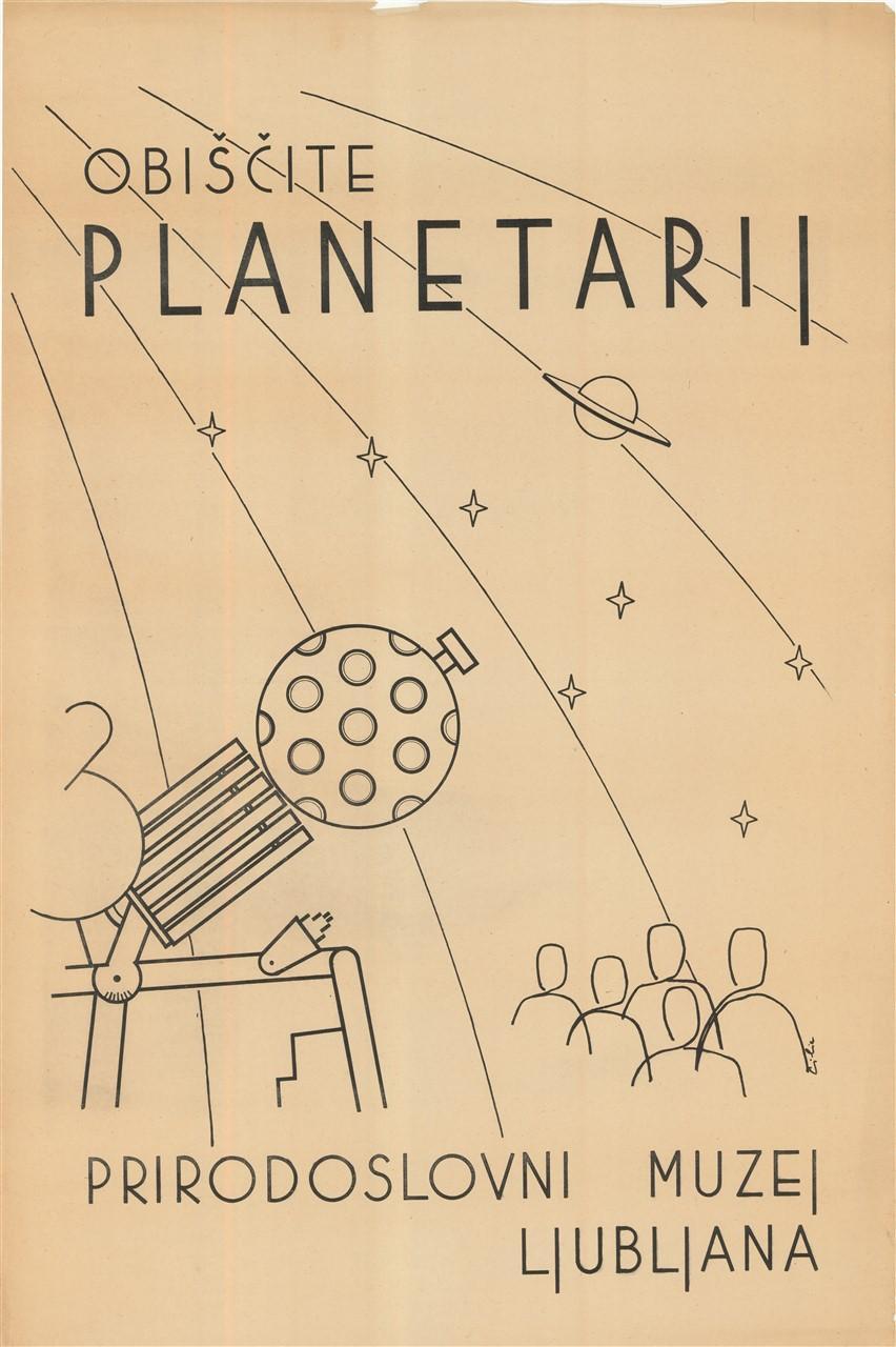 """Plakat """"Obiščite planetarij"""", 1963"""