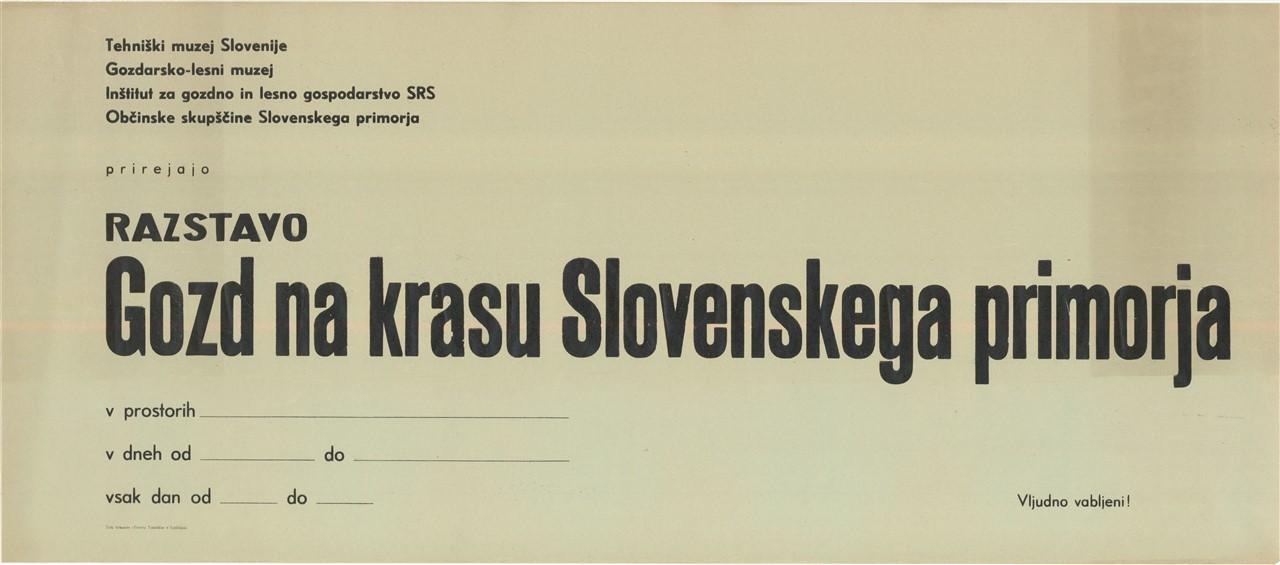 """Plakat """"Gozd na krasu Slovenskega primorja"""", 1964"""