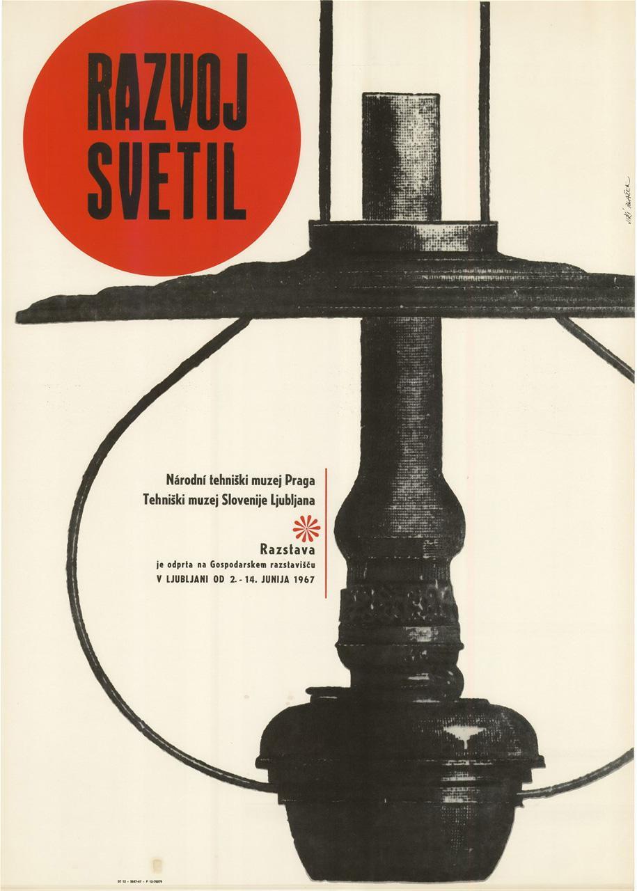 "Plakat ""Razvoj svetil"", 1967"