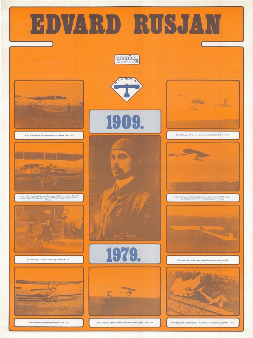 """Plakat""""Edvard Rusjan"""", 1979"""