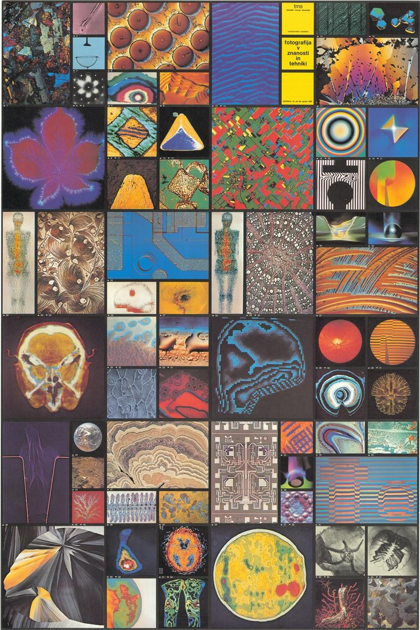 """Plakat """"Fotografija v znanosti in tehniki""""2, 1985"""