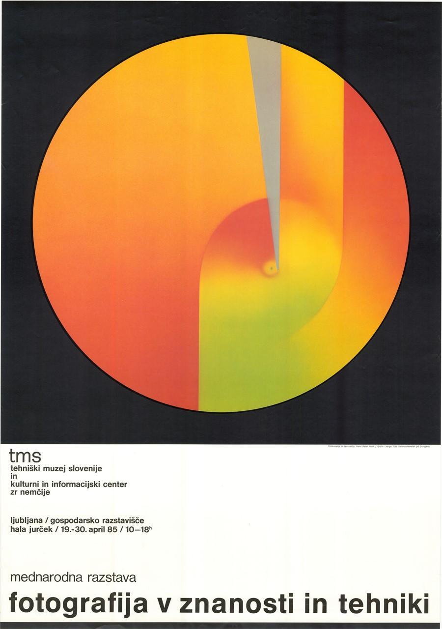 """Plakat """"Fotografija v znanosti in tehniki"""", 1985"""