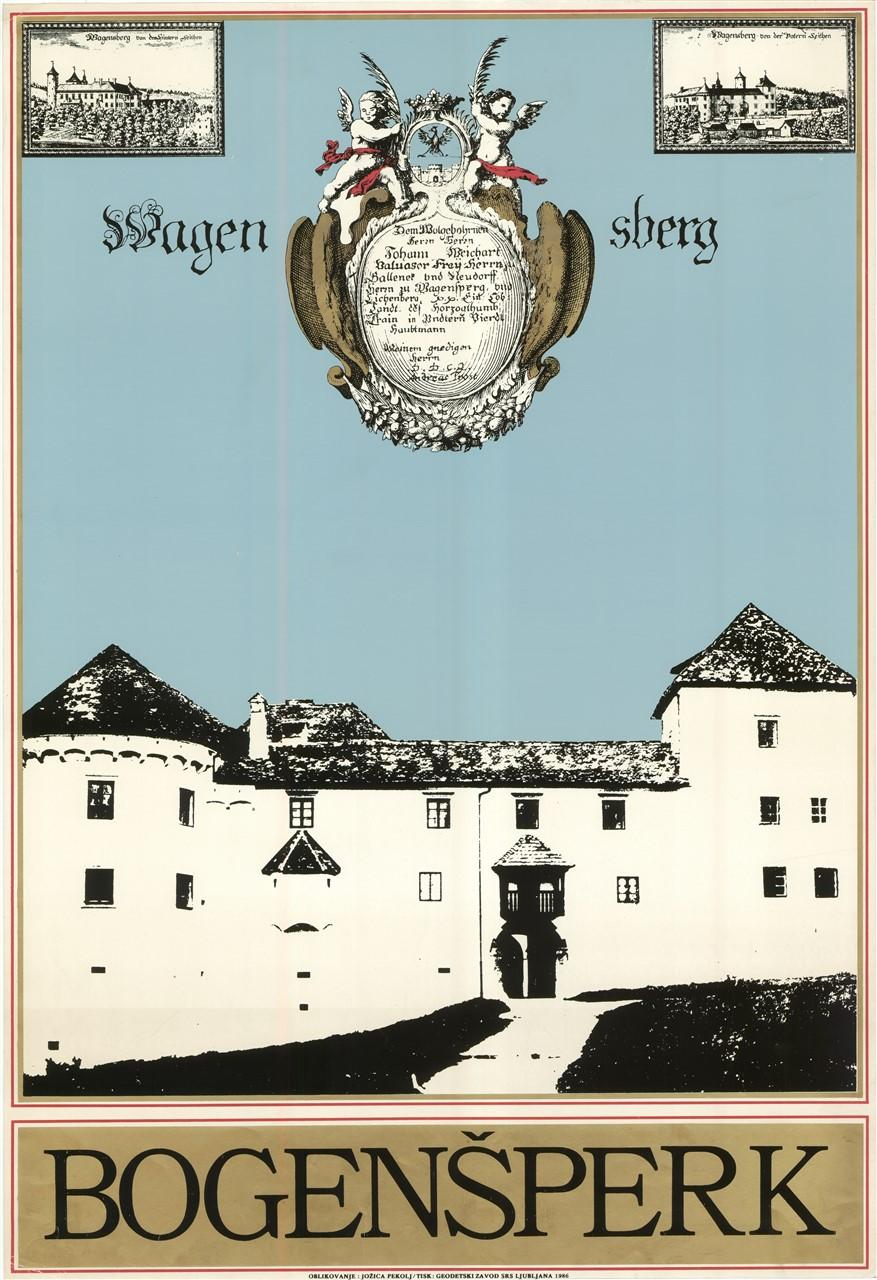 """Plakat """"Bogenšperk"""", 1986"""
