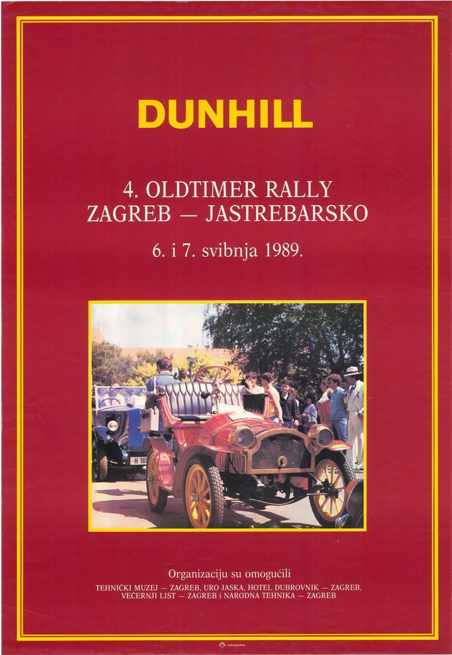 """Plakat """"Dunhill"""", 1989"""