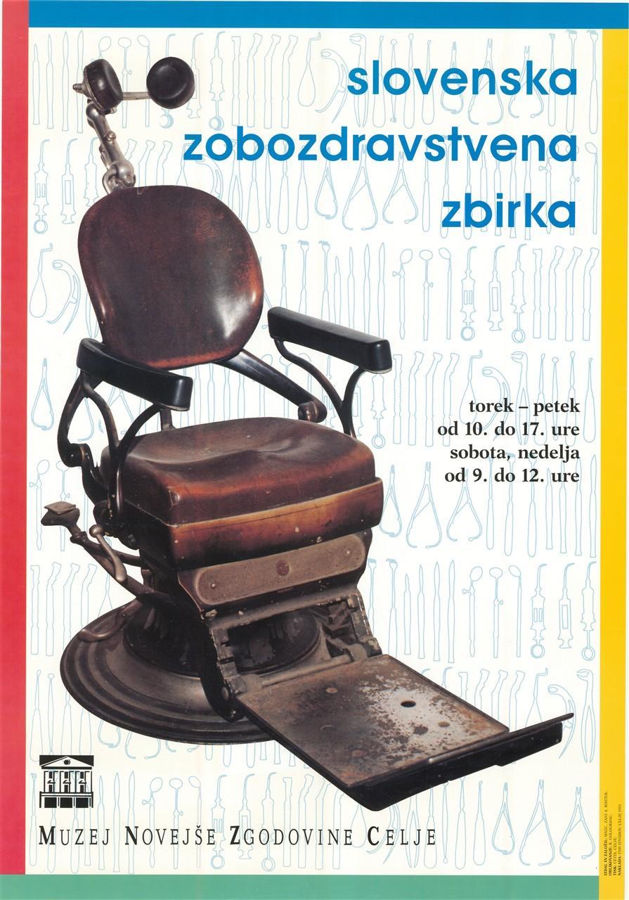 "Plakat ""Slovenska zobozdravstvena zbirka"", 1993"