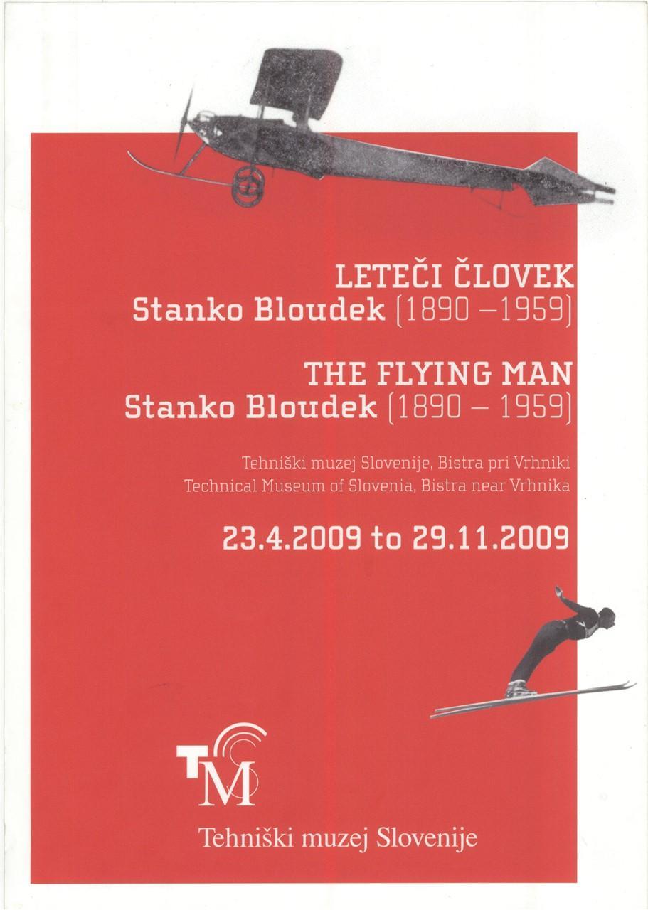 """Plakat """"Leteči človek, Stanko Bloudek"""", 2009"""
