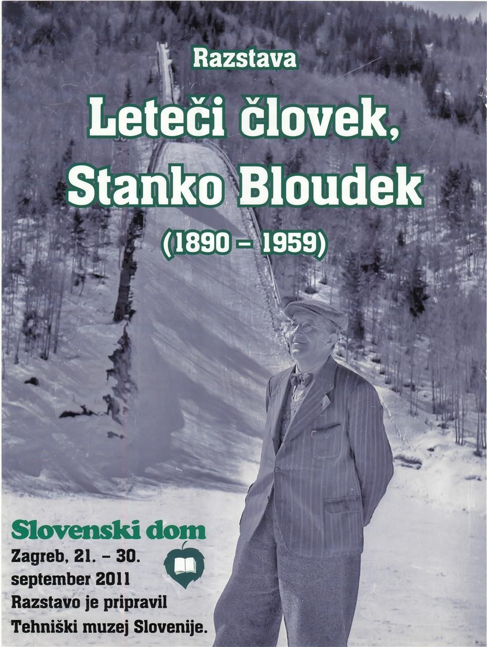 """Plakat """"Leteči človek, Stanko Bloudek"""", 2011"""