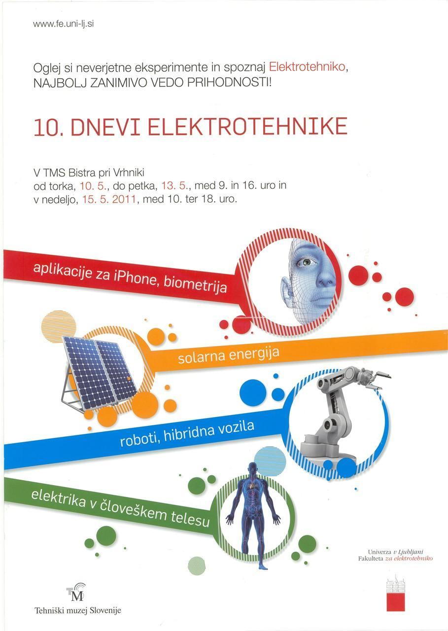 """Plakat """"Dnevi elektrotehnike"""", 2011"""