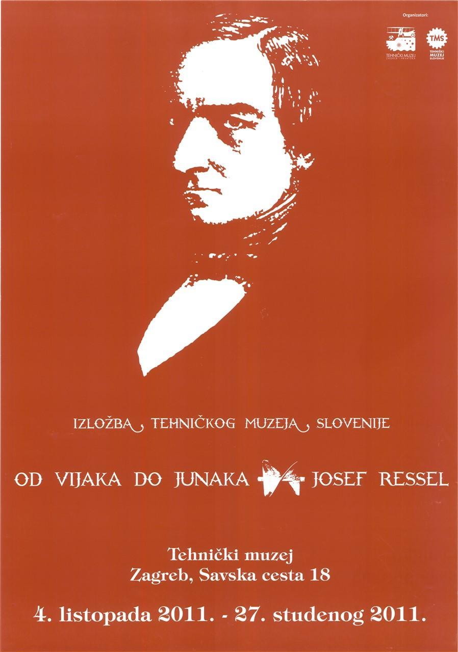 """Plakat """"Od junaka do vijaka, Josef Ressel"""", 2011"""
