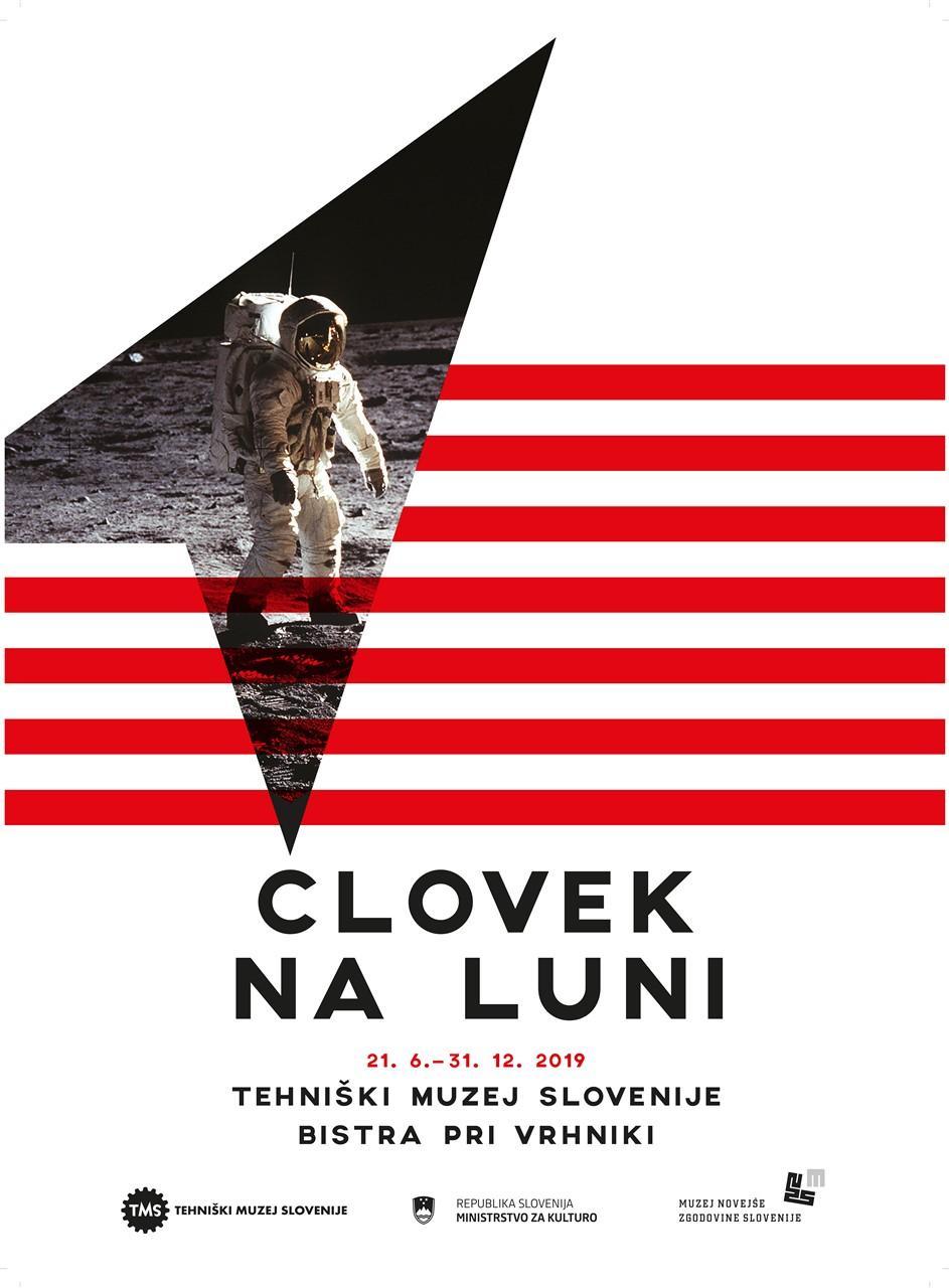 """Plakat """"Človek na Luni"""", 2019"""