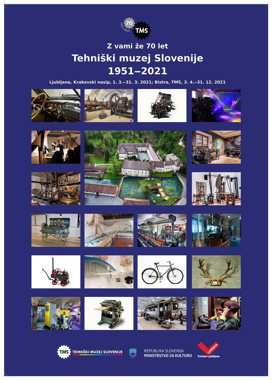 """Plakat"""" Z vami že 70 let, TMS"""", 2021"""
