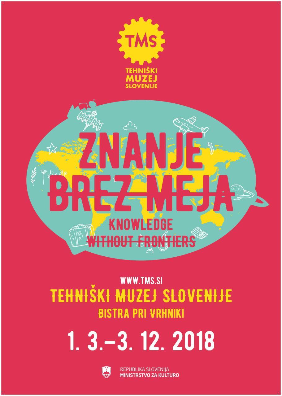 """Plakat """"Znanje brez meja"""", 2018"""